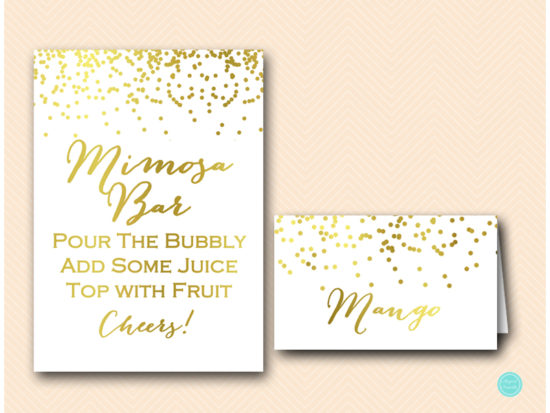 sign mimosa bar wedding sign bridal signage with juice tags labels