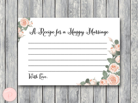 th03 A Recipe for a Happy Marriage Printable Card