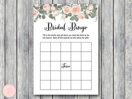 th03 Bridal Shower Bingo Cards, Printable Bridal Bingo