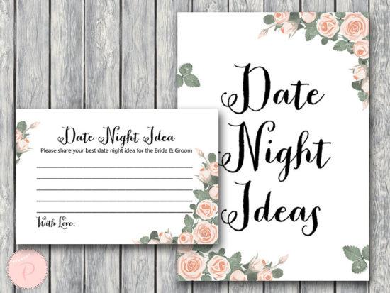 th03 Date Night Ideas, Date Night Cards, Date Night Sign,