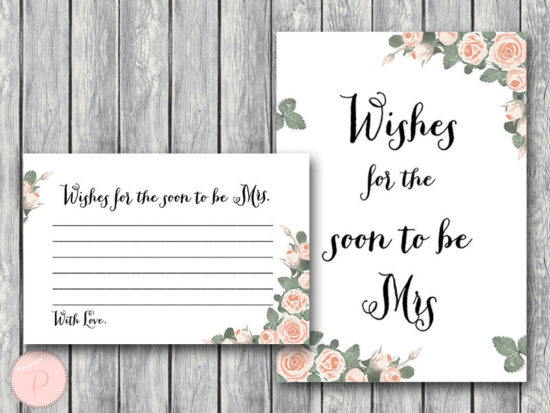 th03 Wishes for the Bride to be Card, Wishes for the Soon to be Mrs 2