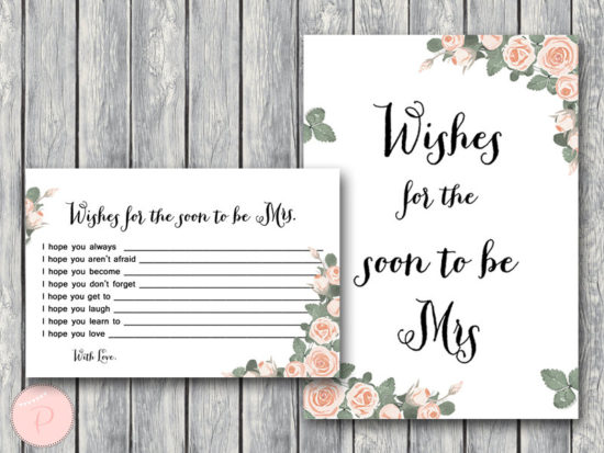 th03 Wishes for the Bride to be Card, Wishes for the Soon to be Mrs