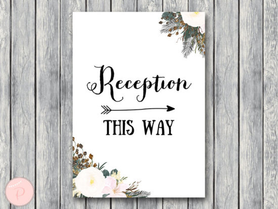 white wedding welcome reception sign printable