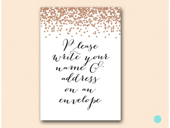 bs155-sign-write-name-address-on-envelope-rose-gold-bridal-shower-decoration