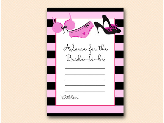 BS450-advice-for-bride-lingerie-bridal-shower-game