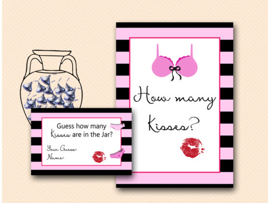 BS450-how-many-kisses-sign-lingerie-bridal-shower-game