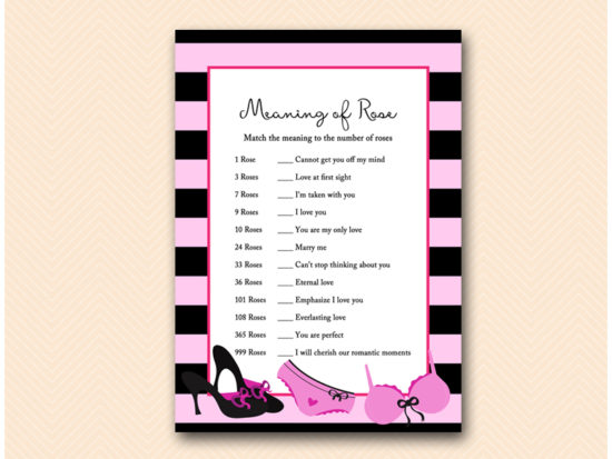 BS450-meaning-of-rose-lingerie-bridal-shower-game