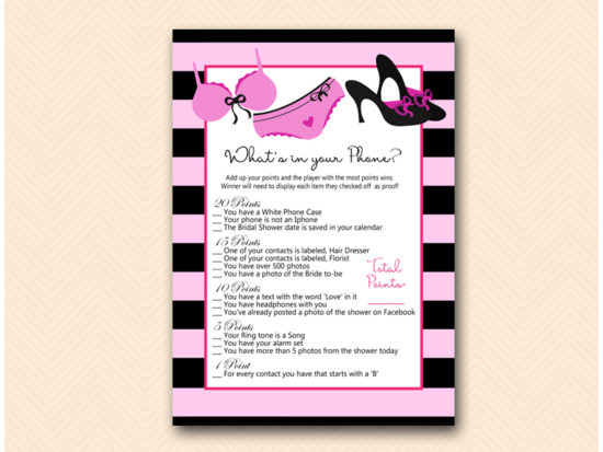 BS450-whats-in-your-phone-lingerie-bridal-shower-game