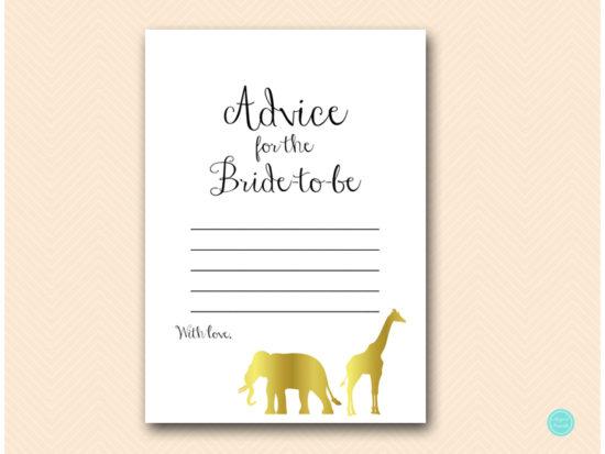 bs452-advice-for-bride-gold-safari-jungle-animal