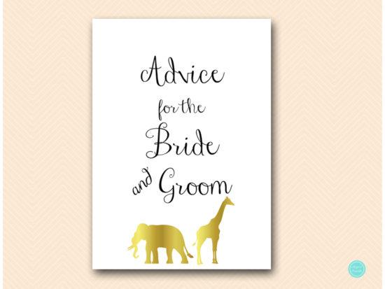 bs452-advice-for-bride-groom-sign-5x7-gold-safari-jungle-animal