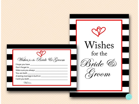 bs453 wishes for bride groom heart red black