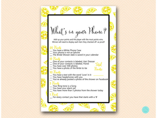 bs455-whats-in-your-phone-summer-lemon-bridal-shower-game