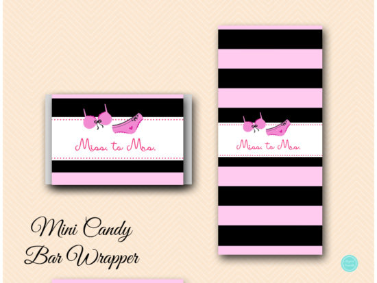 SN450-Hershey-Mini-Wrappers-lingerie-bridal-shower-decoration