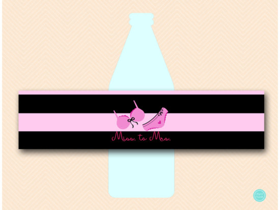 SN450 Water-Bottle-Label-lingerie-bridal-shower-decoration