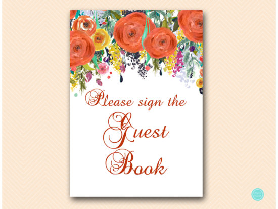 sn451-sign-guestbook-autumn-fall-in-love-bridal-shower-sign-baby