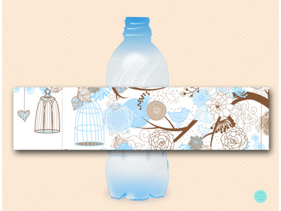 sn456-water-bottle-label-blue-birdcage-bridal-shower-decoration-baby-shower-boy