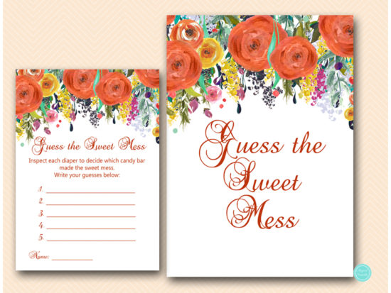 tlc451-sweet-mess-sign-autumn-fall-baby-shower-game