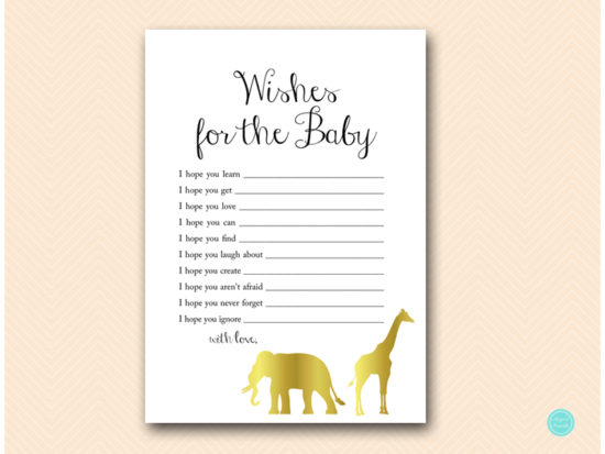tlc452-wishes-for-baby-card-gold-safari-jungle-animal