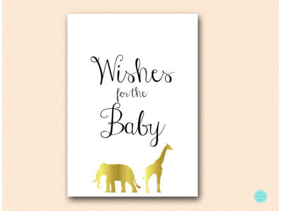 tlc452-wishes-for-baby-sign-gold-safari-jungle-animal
