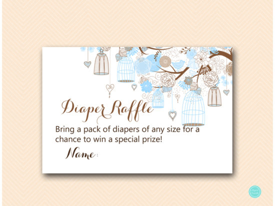 tlc456-diaper-raffle-card-tweet-bird-blue-boy-baby-shower