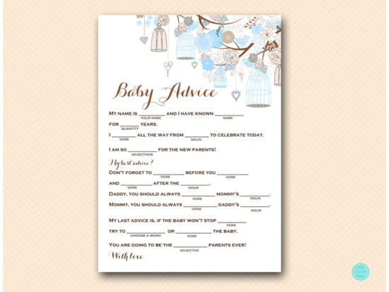 tlc456-mad-libs-baby-advice-tweet-bird-blue-boy-baby-shower