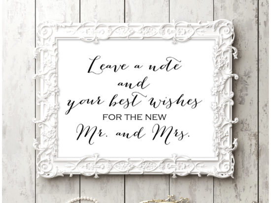 sn38-sign-note-wishes-for-mr-mrs-chic-wedding-sign