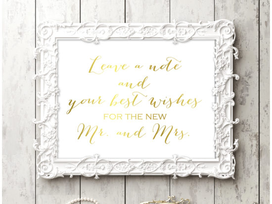 sn38-sign-note-wishes-for-mr-mrs-gold-chic-wedding-sign