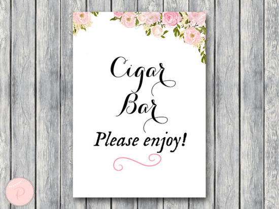 wd67 carolyna Cigar Bar Sign, Instant Download, Wedding Cigars