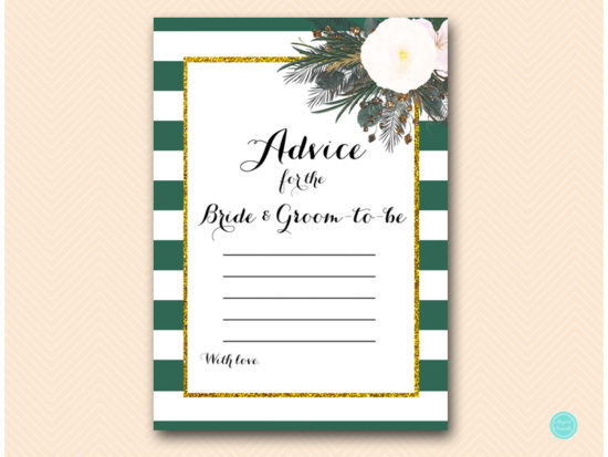 bs460-advice-for-bride-groom-forest-green-white-floral-bridal-shower