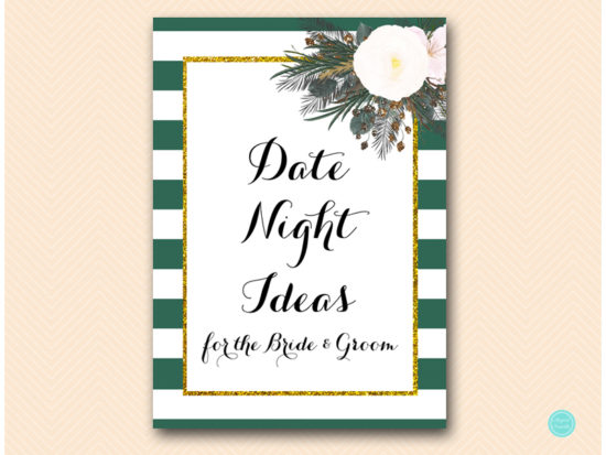 bs460-date-night-sign-forest-green-white-floral-bridal-shower
