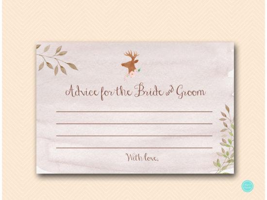 bs461-advice-for-bride-and-groom-card-deer-antler-woodland-bridal-shower