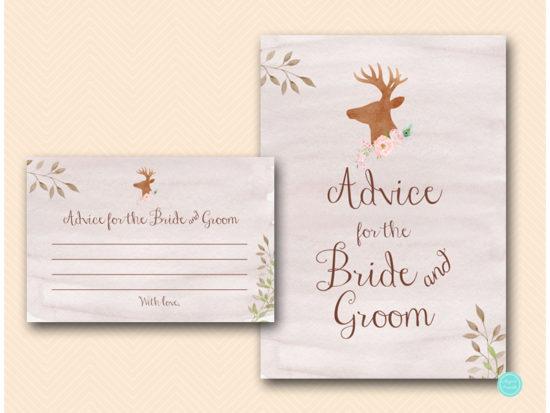 bs461-advice-for-bride-and-groom-sign-deer-antler-woodland-bridal-shower