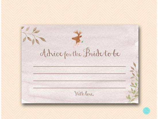 bs461-advice-for-bride-to-be-6x4-deer-antler-woodland-bridal-shower