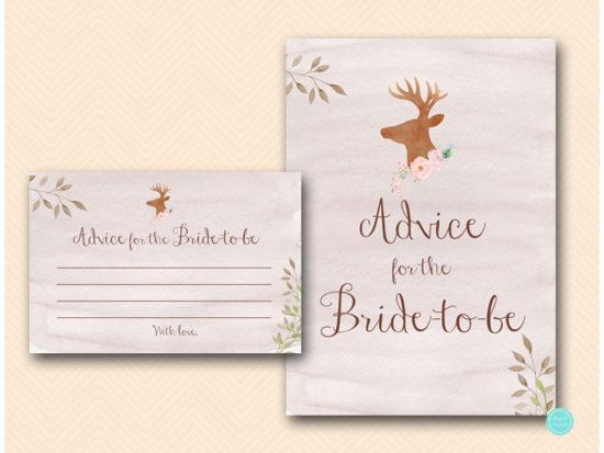 bs461-advice-for-bride-to-be-sign-deer-antler-woodland-bridal-shower