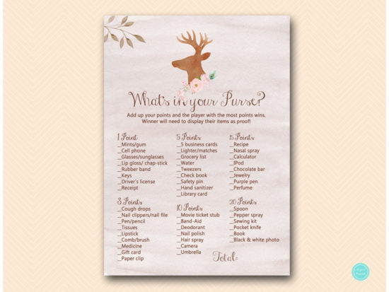 bs461-whats-in-your-purse-deer-antler-woodland-baby-shower