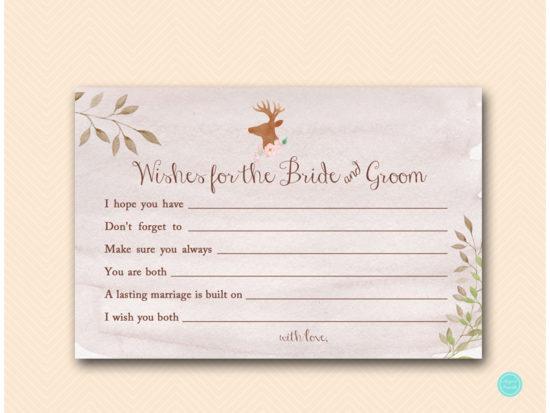bs461-wishes-for-bride-and-groom-deer-antler-woodland-bridal-shower