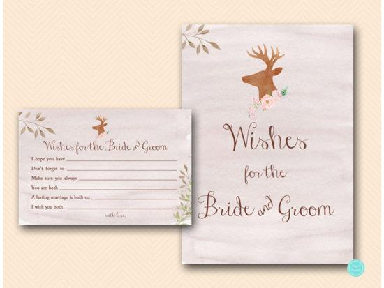 bs461-wishes-for-bride-and-groom-sign-deer-antler-woodland-bridal-shower