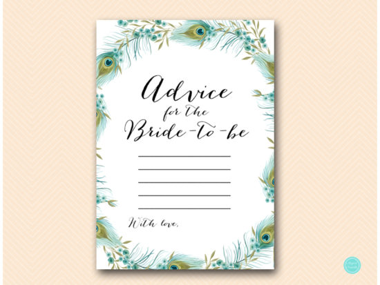 bs462-advice-bride-card-peacock-bridal-shower-games