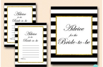 BS61-advice-for-bride-card-sign-black-stripes-gold-bridal-shower-cards