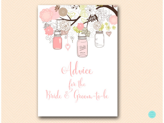 bs459-advice-for-bride-and-groom-sign-pink-marson-jars-bridal-shower