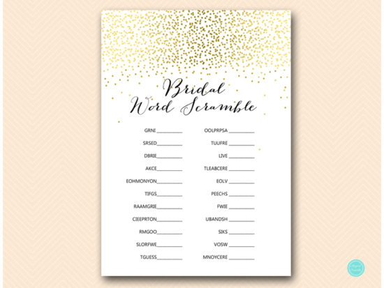 bs472-scramble-bridal-words-gold-bridal-shower-games