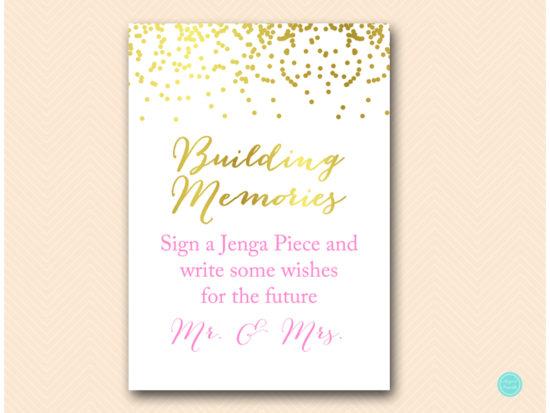 bs87-pink-building-memories-jenga-pink-and-gold-sign-printable