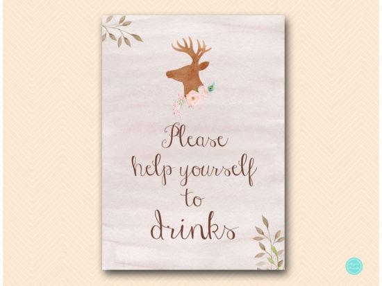 sn461-sign-drinks-deer-antler-woodland-bridal-shower