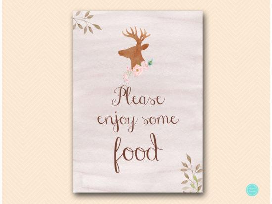 sn461-sign-food-deer-antler-woodland-bridal-shower