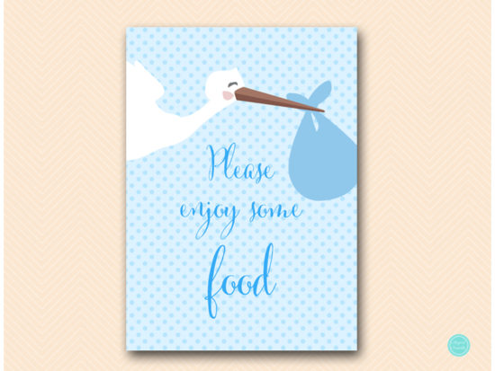 tlc458b-sign-food-enjoy-blue-boy-stork-baby-shower-game