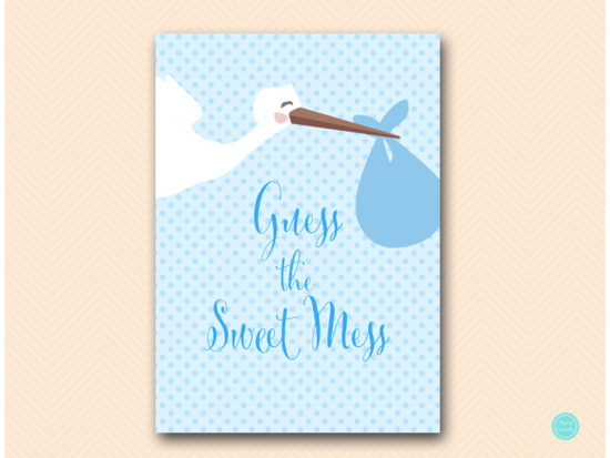 tlc458b-sweet-mess-guess-sign-blue-boy-stork-baby-shower-game