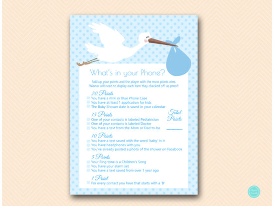 tlc458b-whats-in-your-phone-blue-boy-stork-baby-shower-game