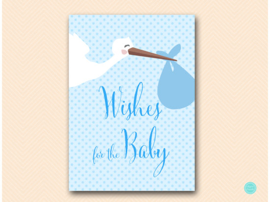 tlc458b-wishes-for-baby-boy-sign-blue-boy-stork-baby-shower-game