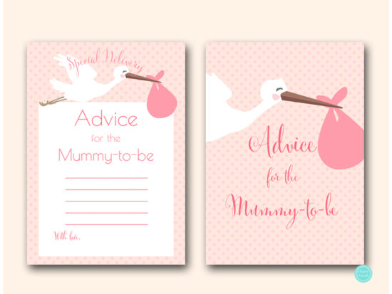 tlc458p-advice-for-mummy-sign-5x7-pink-girl-stork-baby-shower