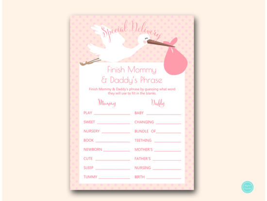 tlc458p-finish-mommy-daddys-phrase-pink-girl-stork-baby-shower-game